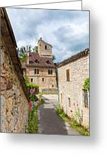 Street In Saint-cirq-lapopie Greeting Card