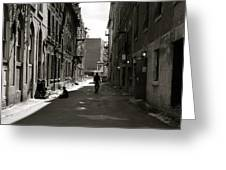 Street In Sunshine Greeting Card by Jocelyne Choquette