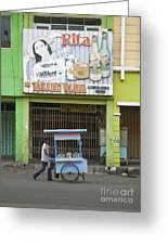 Street In Surabaya Indonesia Greeting Card