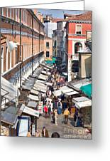 Street In Venice Greeting Card