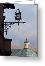 Street Lamp, Assisi Greeting Card