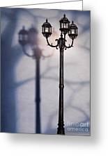 Street Lamp At Night Greeting Card by Oleksiy Maksymenko