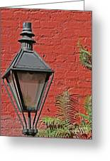 Street Lamp Greeting Card by Jeanne  Woods