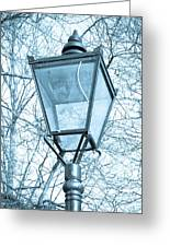 Street Lamp Greeting Card by Tom Gowanlock
