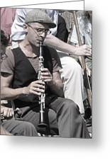 Street Musician In New York City Greeting Card