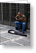 Street Musician - Sao Paulo Greeting Card
