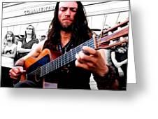 Street Musician Series #1 Greeting Card