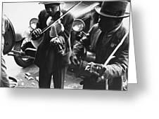 Street Musicians, 1935 Greeting Card