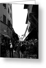 Street Of Florence Greeting Card