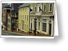 Street Of Many Colors In Providence Ri Greeting Card