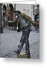 Street Performer In Munich Greeting Card