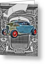 Street Rod In Grill Greeting Card