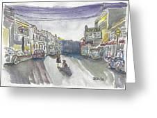 Street Scene - Capitol Theatre Greeting Card