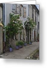 Street Scene Durfort France Greeting Card