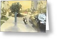 Street Scene Impression Greeting Card