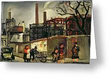 Street Scene In Paris, 1926 Greeting Card