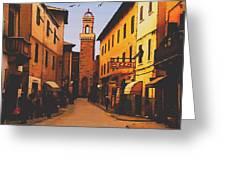 Street Scene Greeting Card