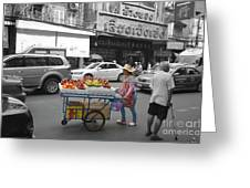 Street Seller Greeting Card