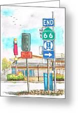 Street Signs In Route 66, San Bernardino, California Greeting Card