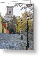 Street View In Gyor Greeting Card