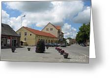 Street View. Silute Lithuania May 2011 Greeting Card