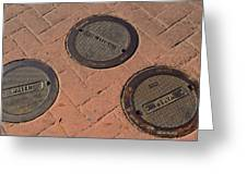 Street Water Covers Greeting Card