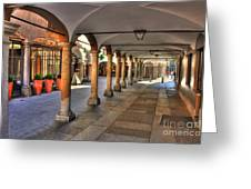 Street With Arches And Columns Greeting Card