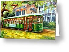 Streetcar On St.charles Avenue Greeting Card
