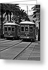 Streetcars New Orleans Greeting Card