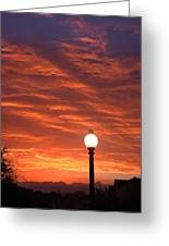 Streetlight Sunset Texas Greeting Card