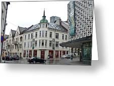 Streets Of Aalesund Greeting Card