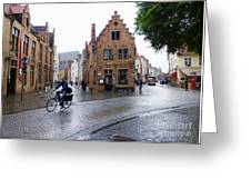 Streets Of Brugges 3 Greeting Card
