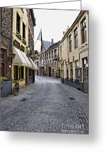 Streets Of Bruges Greeting Card