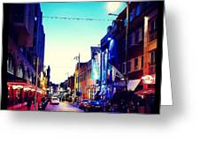 Streets Of Dublin Greeting Card