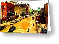 Streets Of Gold Greeting Card