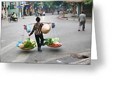 Streets Of Hanoi Greeting Card