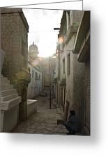 Streets Of Leh Greeting Card
