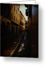 Streets Of Milano - Italy Greeting Card