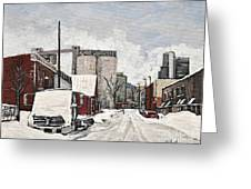 Streets Of Montreal Pointe St. Charles Greeting Card