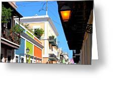 Streets Of Old San Juan Greeting Card