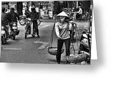 Streets Of Saigon Greeting Card