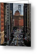Streets Of San Fran Greeting Card by Benjamin Yeager