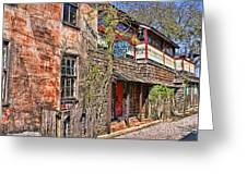 Streets Of St Augustine Florida Greeting Card