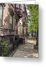 Streets Of Troy New York Greeting Card