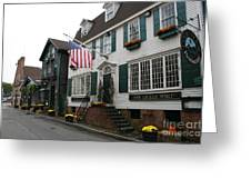 Streetscene Newport  -  Rhode Island Greeting Card