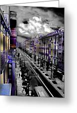 Streetwise In Spain Greeting Card by Cary Shapiro
