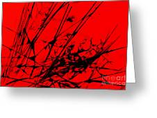 Strike Out Red And Black Abstract Greeting Card