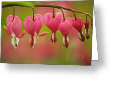 String Of Hearts Greeting Card