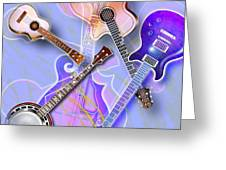 Stringed Instruments Greeting Card by Design Pics Eye Traveller