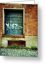 Strip District Doorway Number 1 Greeting Card by Amy Cicconi